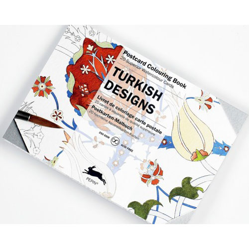 Pepin Press Colouring Postcard Book - Turkish Designs