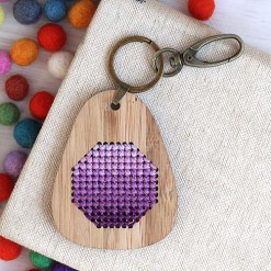 Clementine_KeyRing-Ombre-Purple
