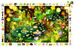 dj7592-party-in-forest-jigsaw
