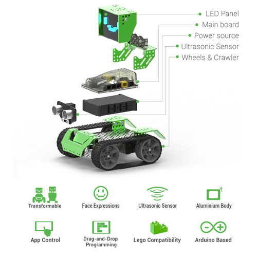 Robobloq Qoopers 6 In 1 Robot Kit