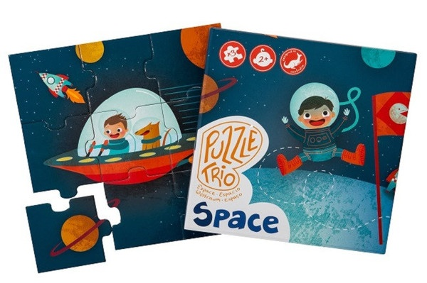 Trio Space Puzzle (3-in-1 : 4-6-9 pieces, 2-3 yrs)