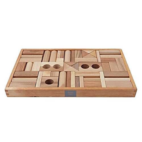 Natural Wooden Blocks by Wooden Story (54 pieces)